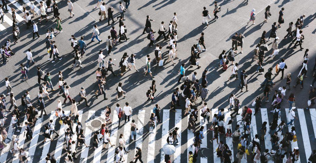 Crowded Market Street
