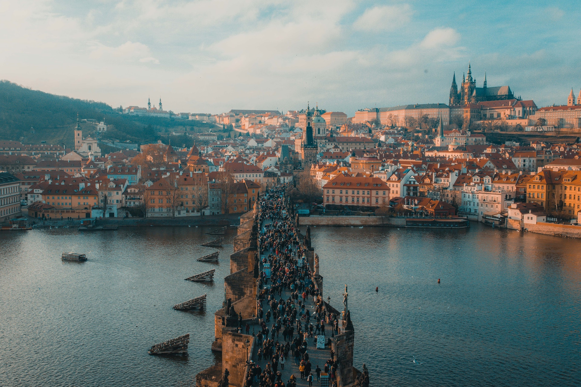 Arial view of Prague CEE