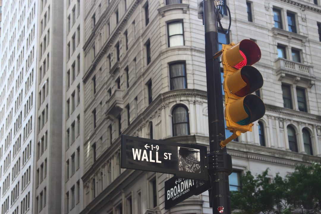 Business Wall Street sign